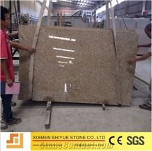 Rusty Yellow Beige G682 G350 Granite Slabs Tiles