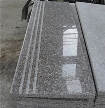 Polished Luoyuan Violet Red Granite Stairs