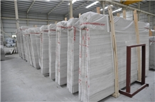 White Wooden Marble Slabs