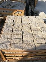 G682 Granite Brick Cube Stone Paver,Sun Golden Cobblestone