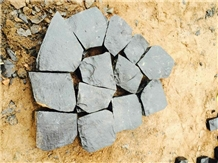 Black Basalt Cobble Paving Stone Setts Cubes