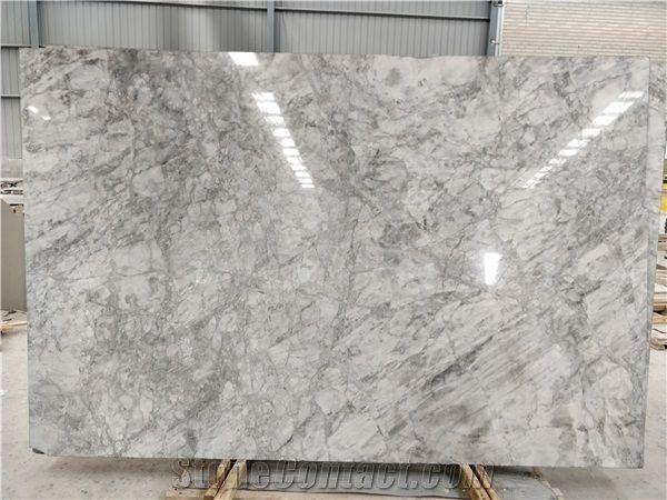 Super White Calacatta Quartzite Slab Tiles