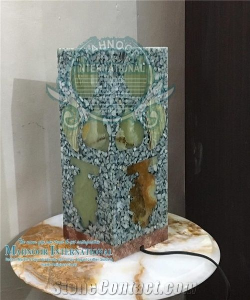 Lamps Onyx Medium Green Stone Home Decor Products From Pakistan