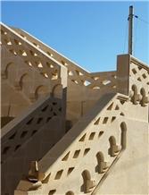 Gravina Tufa Carved Handrail, Stair Balusters