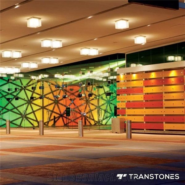 4x8 Thick Clear Cast Acrylic Sheet Wall Design - Transtones