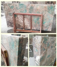 Polished Amazon Green Granite Stone Cafe Table Top