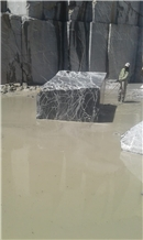Statuario Black Marble Block, Morocco Black Marble