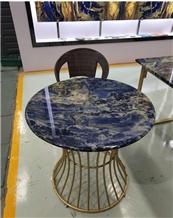 Semi Precious Blue Sodalite Round Table