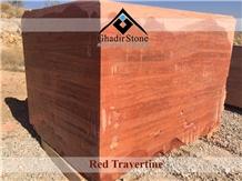 Red Travertine Blocks
