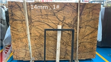 Rain Forest Gold Marble Slab,Stone Floor Tiles
