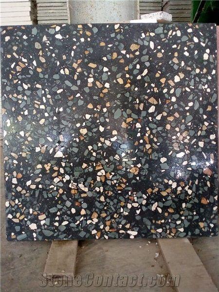 Indonesia Black Terrazzo Floor Tiles Stone Depot Pt D W