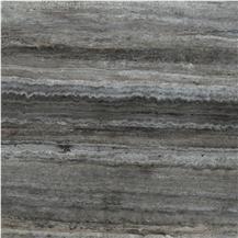 Titanium Silver Travertine