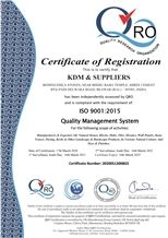 ISO 9001 : 2015 QUALITY MANAGEMENT
