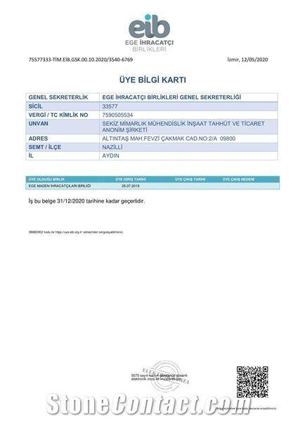 TURKISH INFORMATION OF MEMBERSHIP CARD