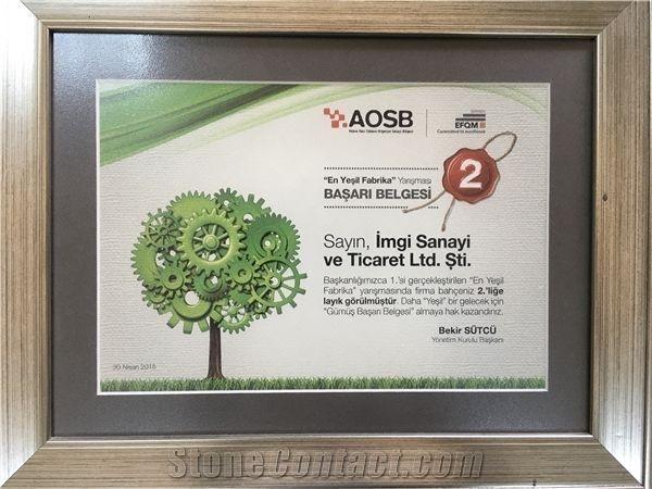 Green Factory Achievement Certificate