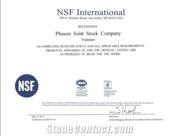 NSF Certificial