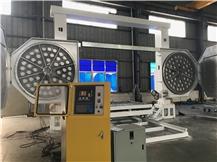 CNC 3500 block diamond  wire saw cutting machine, CNC block squaring machine, block profiling machine