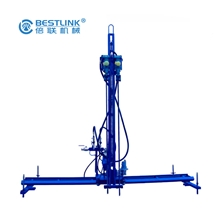 Horizontal Pneumatic Mobile Rock Drill Mobile Line Drilling Machine