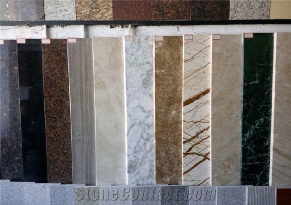 Different types of stone panels can be drilled by this machine.
