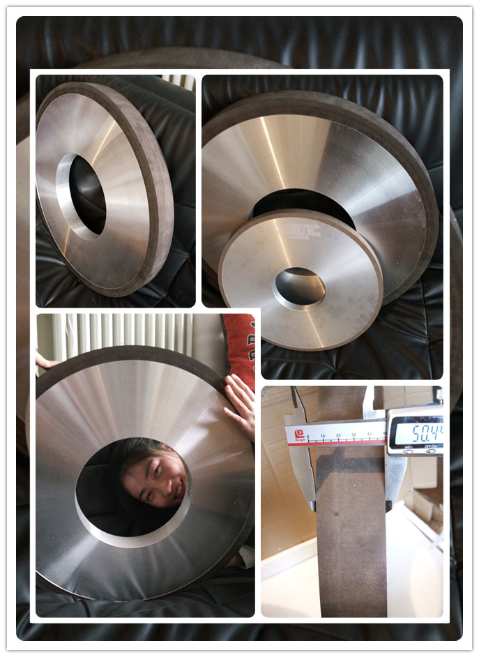 D600 1A1 resin diamond grinding wheel for thermal spraying alloy