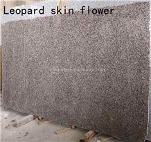 Leopard Skin Flower Granite Slab, China Brown Granite