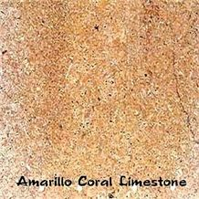 Amarillo Coral Limestone Tile, Spain Yellow Limestone