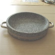 Sell Korea Hornblende-barbecue Plate, Grey Granite Plate