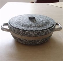 Sell Korea Hornblende-stone Hot Pot, Grey Granite Pots