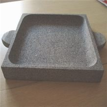 Sell Square Barbecue Plate, Grey Granite Plate
