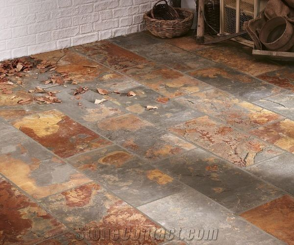 Riven Rustic Slate Floor Tile From