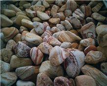 Tumbled Rainbow Sandstone Pebble Stone