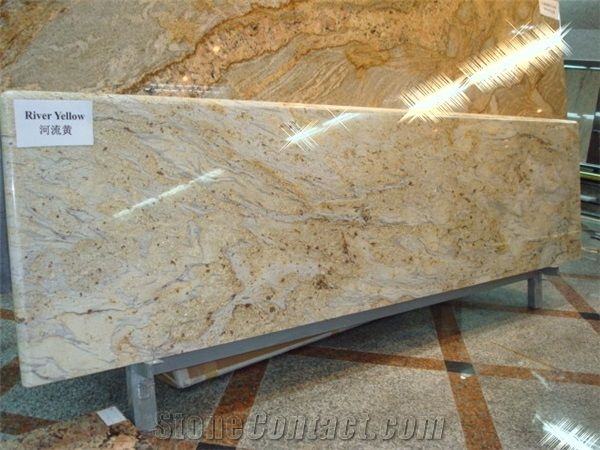 Golden River Granite Countertop From China 3910