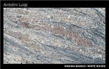 Kinawa Bianco-White Waves Granite