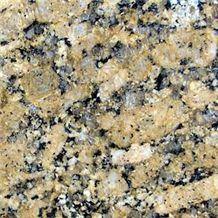 Giallo Fiorito Granite Slabs & Tiles, Brazil Yellow Granite