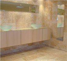Tuscany Gold Travertine Bathroom Design
