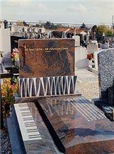 Muliticolor Red Granite Monument