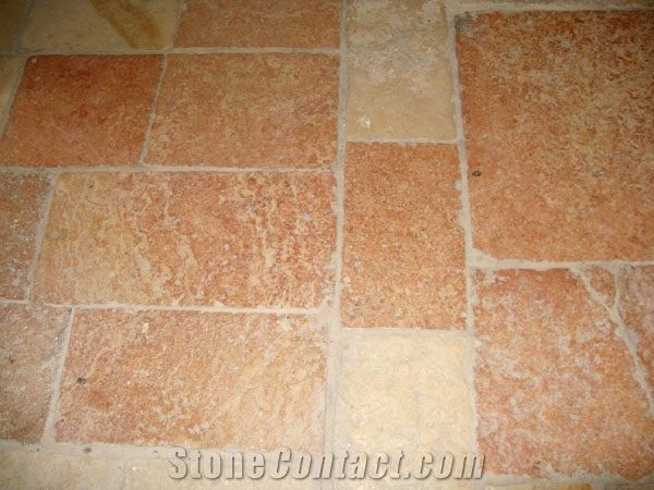 Jerusalem Red Slayeb Limestone Floor Tile Israel Pink