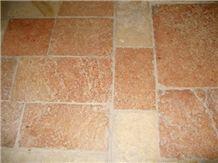 Jerusalem Red Slayeb Limestone Floor Tile, Israel Pink Limestone