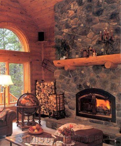 Napa Valley Fieldstone Fireplace & Napa Valley Fieldstone Fireplace from Norway - StoneContact.com