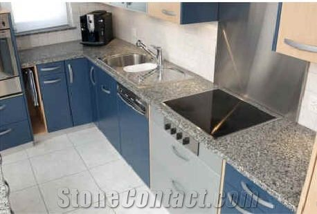 Azul Platino Granite Countertop From Switzerland