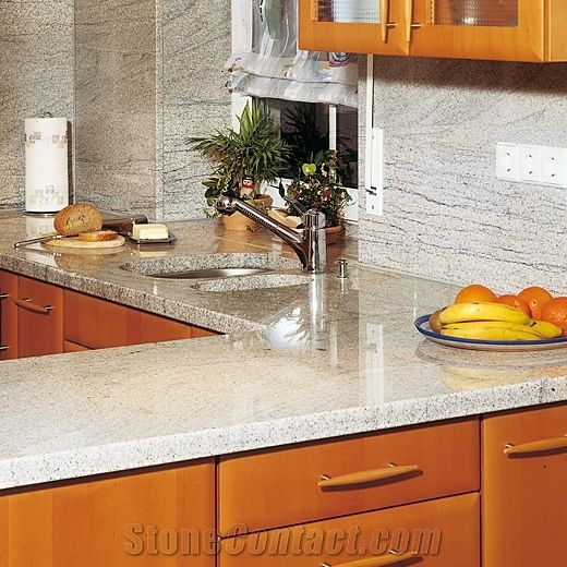 Kitchen Worktops -Imperial White Granite From Germany