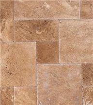 Brown Travertine Pattern Slabs & Tiles, Floor Covering Tiles, Walling Tiles