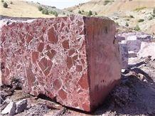 Elazig Visne, Rosso Levanto, Rosa Levanto Marble Block