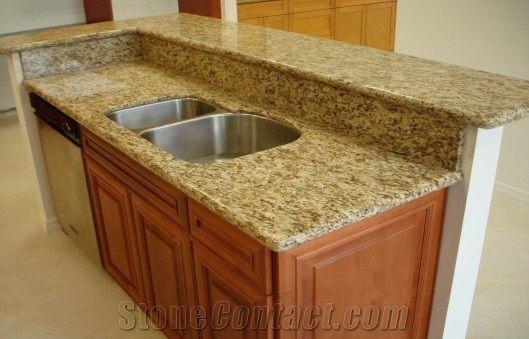 Giallo Santa Cecilia Granite Countertop Kitchen Worktops Bar Tops