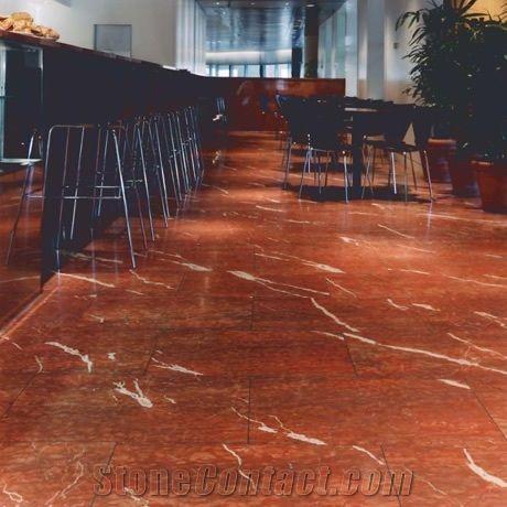 Rojo Alicante Honed Marble Flooring Rosso Alicante Marble