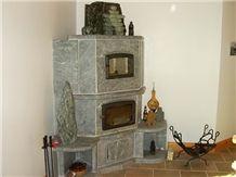 Santa Rita Venata Grey Soapstone Fireplace