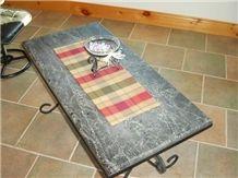 Soapstone Table, Mirasol Forest Green Soapstone