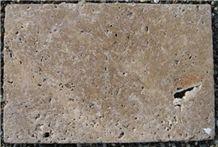 Super Antik Mocca Tumbled, Brushed, Travertino Toscano Noce Travertine Tile