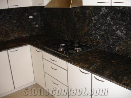 Black Cosmic Leather Countertop Cosmic Black Granite Countertop