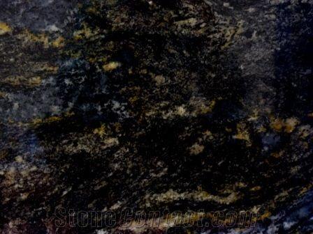 Black Cosmic South Cosmic Gold Granite Slab Tile From